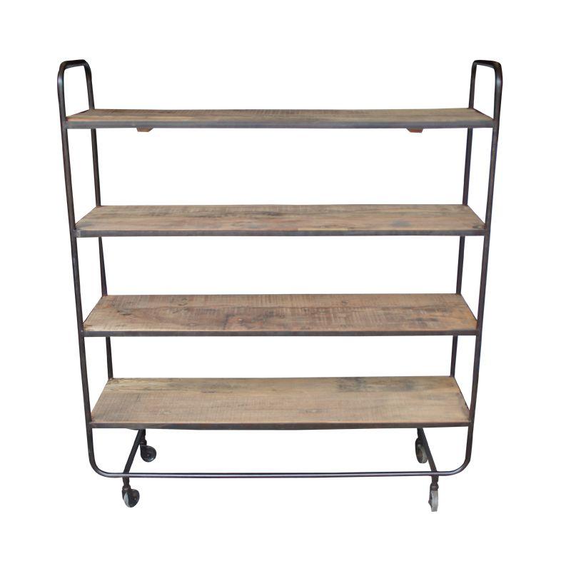 Evenaar Industrial shelving/rack in metal and wood - h115cm - Evenaar