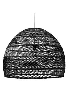 HK Living Wicker pendant lamp - Ø80cm - black - HK Living