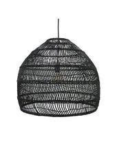 HK Living Lampe Suspension en osier - Ø60cm - Noir - HK Living