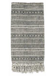 Nordal Plaid 'ethnico' - gris - 130x160cm - Nordal