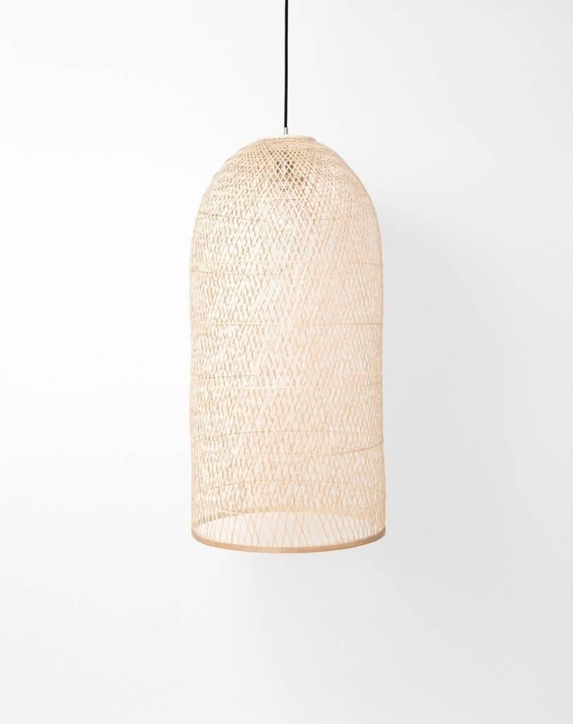 Ay Illuminate Bamboo Pendant Lamp CAP SMALL - Natural - Ø38x85cm - Ay illuminate