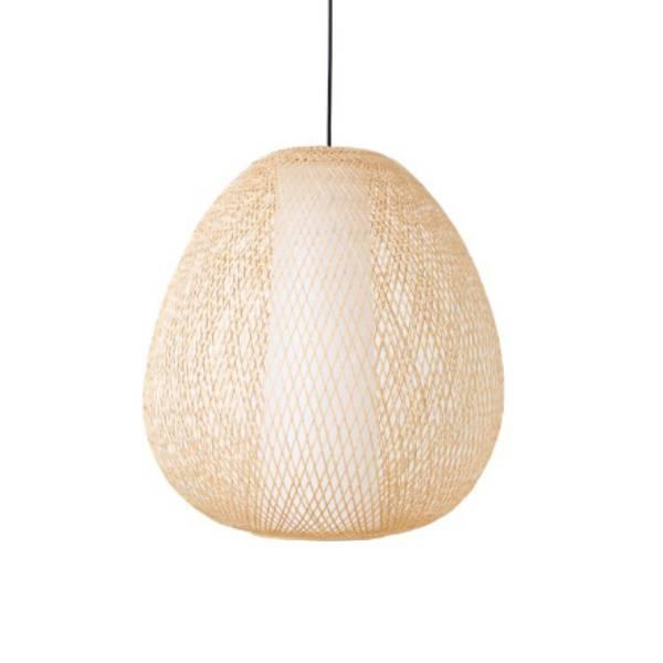 Ay Illuminate Bamboo Pendant Lamp Twiggy EGG - Natural - Ø38x85cm - Ay illuminate