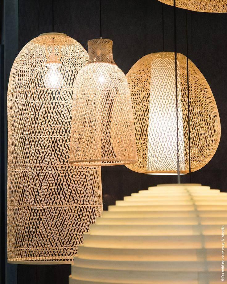 Ay Illuminate Lampe Suspension Bambou CAP LARGE - Natural - Ø48x110 cm - Ay illuminate