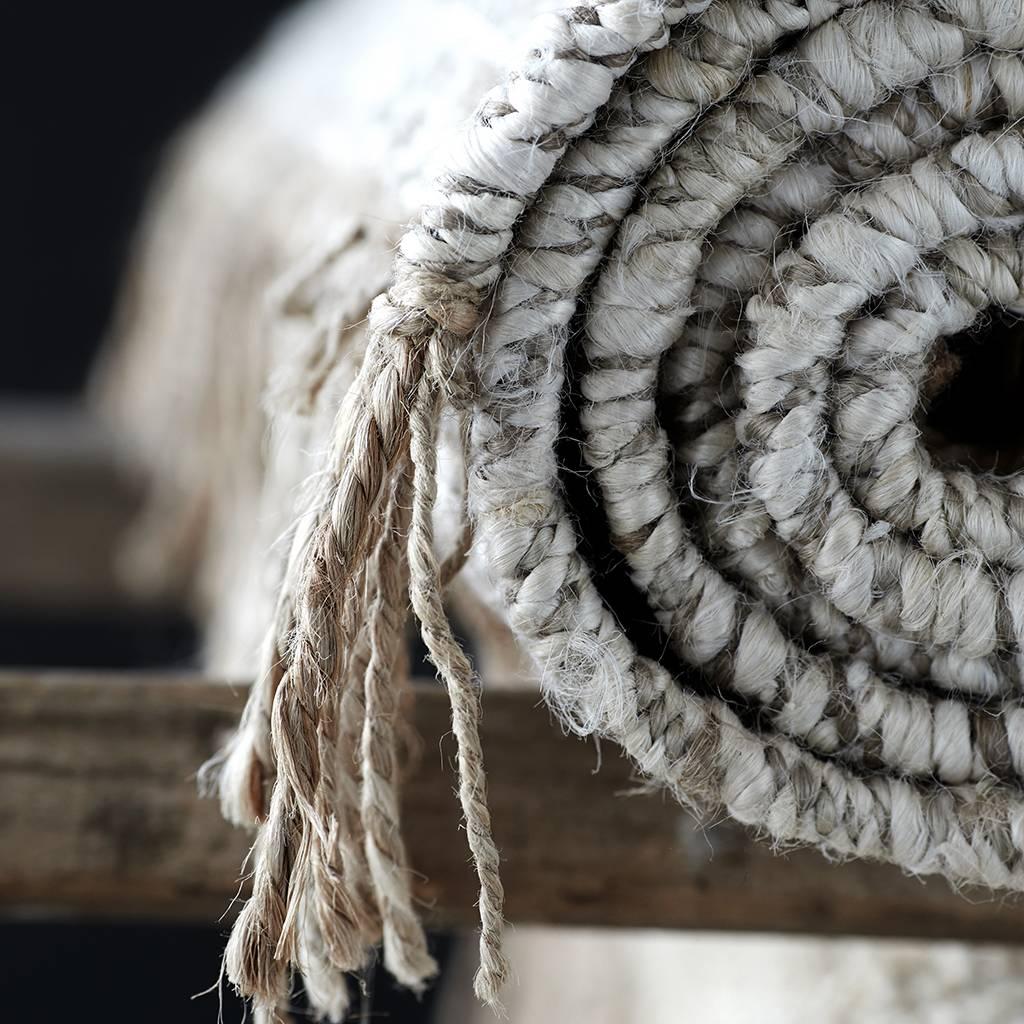 Tell me more Hemp rug Tie Mix - White / Cream / Gray - 200x300cm - Tell Me More