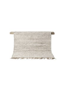 Tell me more Hemp rug Tie Mix - White / Cream / Gray - 200x300cm - Tell Me More