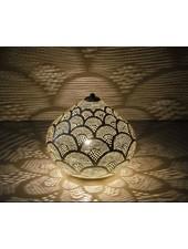 Zenza Lampe égyptienne à poser -  argent -Ø 29x23 cm - Zenza