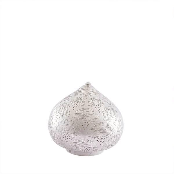 Zenza Lampe égyptienne à poser -  argent - Ø 29x23 cm - Zenza