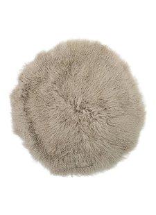 Bloomingville Rug Mongolian Lambskin - natural - Tapis peau d'agneau déco - naturel - Ø90cm - Bloomingville
