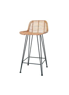 HK Living Rattan bar stool natural - HK Living