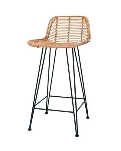 Bar De Hk Naturel Tabouret Living Rotin En ZuPkXiO