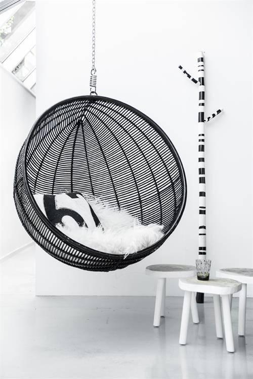 HK Living Tree table - black wood - 33cm - HK Living