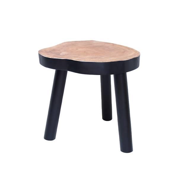 Hk Living Table Basse Arbre 33cm Bois Noir Hk Living