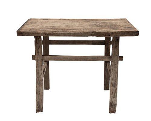 Table console vintage en Bois d'orme - Piece Unique - 102x45xh81cm