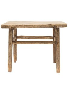 Table basse naturelle - 60x60x50cm - Bois d'orme