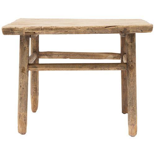Mesa baja natural - madera de olmo - 60x60x50cm