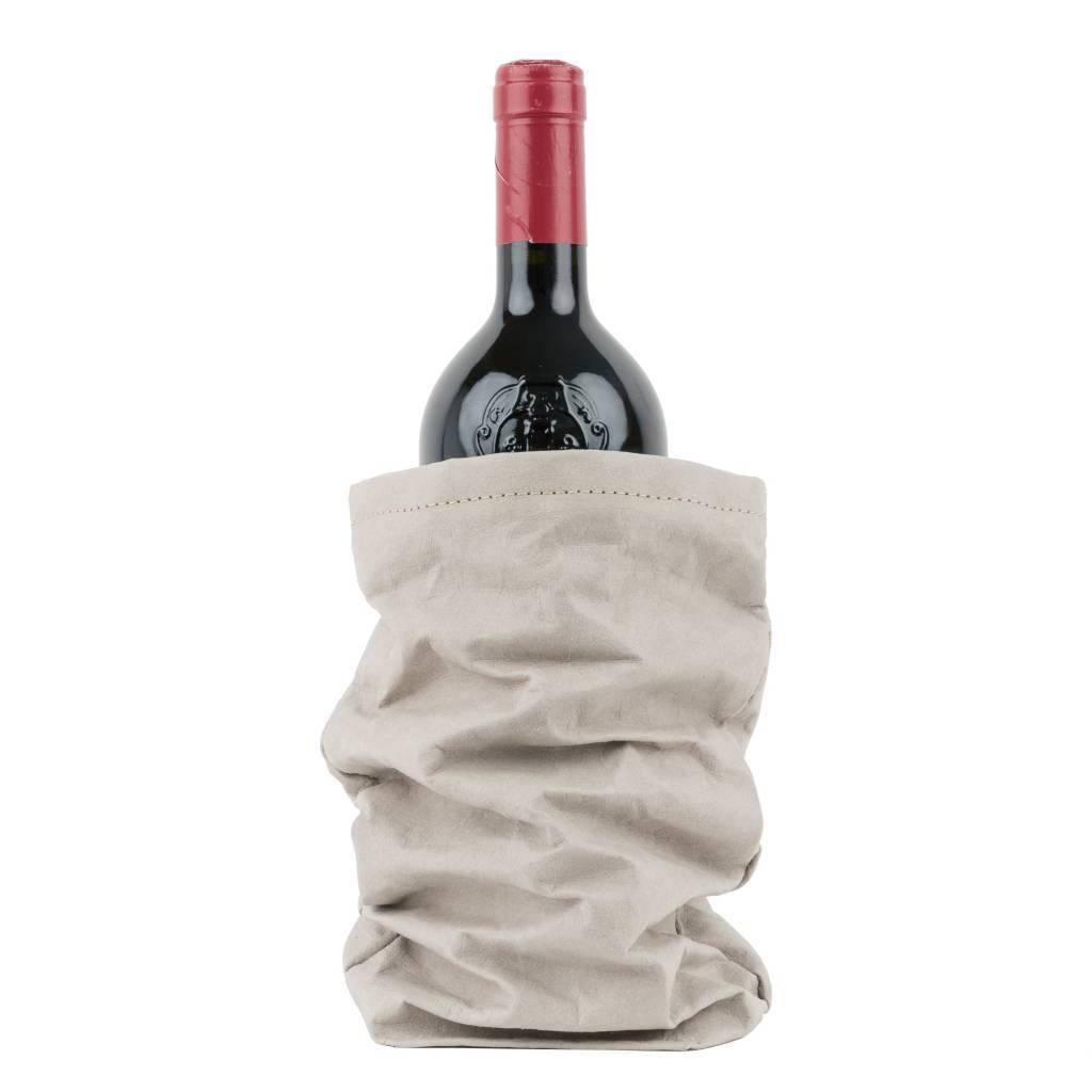 Uashmama Bolsa de papel lavable de Vino Chianti con Cooler - Gris - Uashmama