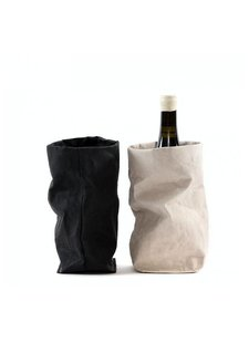 Uashmama Washable Paper Wine Bag Chianti with cooler - black - Uashmama