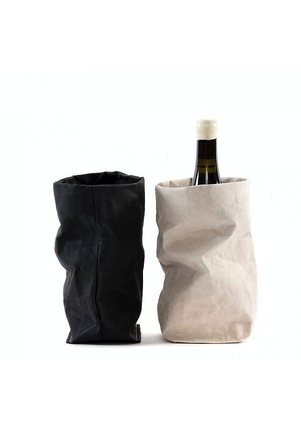 Uashmama Washable Paper Wine Bag Chianti with cooler - light grey - Uashmama - Copy