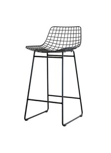 HK Living Black bar stool WIRE - HK Living