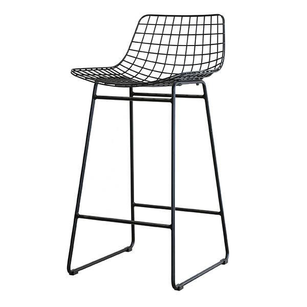 HK Living Black bar stool WIRE - HK Living