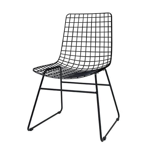 HK Living Chaise WIRE - métal noir - HK Living