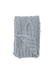 Bloomingville Manta de lana gruesa tamaño XL - Azul - 150x125cm - Bloomingville