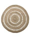 Bloomingville Tapis rond toile de jute - naturel  - Ø182cm - Bloomingville