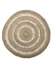 Bloomingville Round rug jute - natural - Ø182cm - Bloomingville