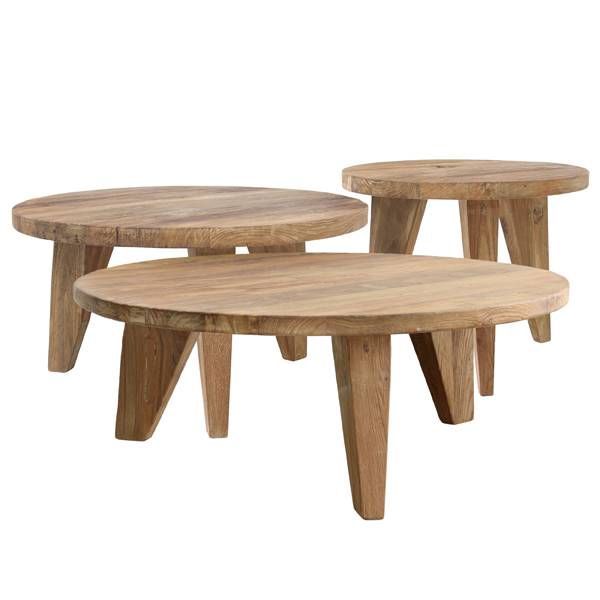HK Living Teak Coffee table - Ø50 - HK Living