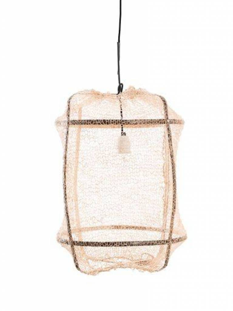 Ay Illuminate Z5 tea Sisal and Bamboo pendant lamp - Ø 42 cm - Black - Ay illuminate