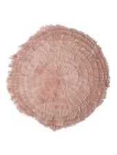 Bloomingville Coussin rond rose - Ø40cm - 100% coton - Bloomingville