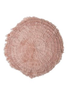 Bloomingville Cushion round pink - Ø40cm - 100% cotton - Bloomingville