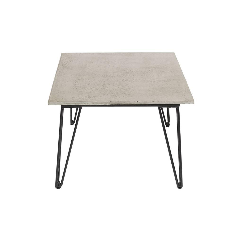 Bloomingville Table à café d'exterieur en béton - gris et noir - L90xH42xW60 - Bloomingville