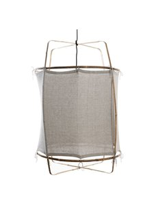 Ay Illuminate Suspension Z1 RUC en bambou et coton - gris - Ø 67cm x H100cm - Ay Illuminate