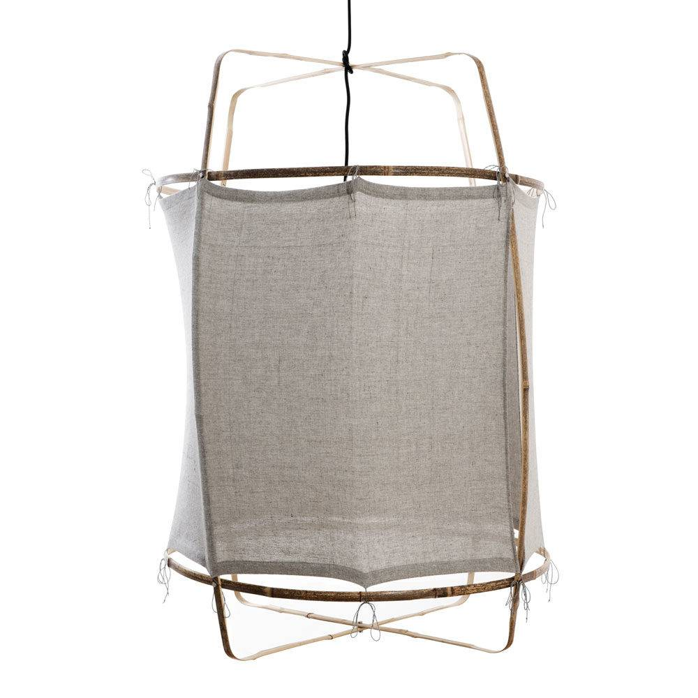 Ay Illuminate Z1 RUC pendant lamp bamboo and re-used - grey - Ø 67cm x H100cm - Ay illuminate