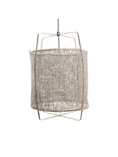 Ay Illuminate Lámpara Z1 de bambú y papel gris - Ø 67cm x H100cm - Ay illuminate