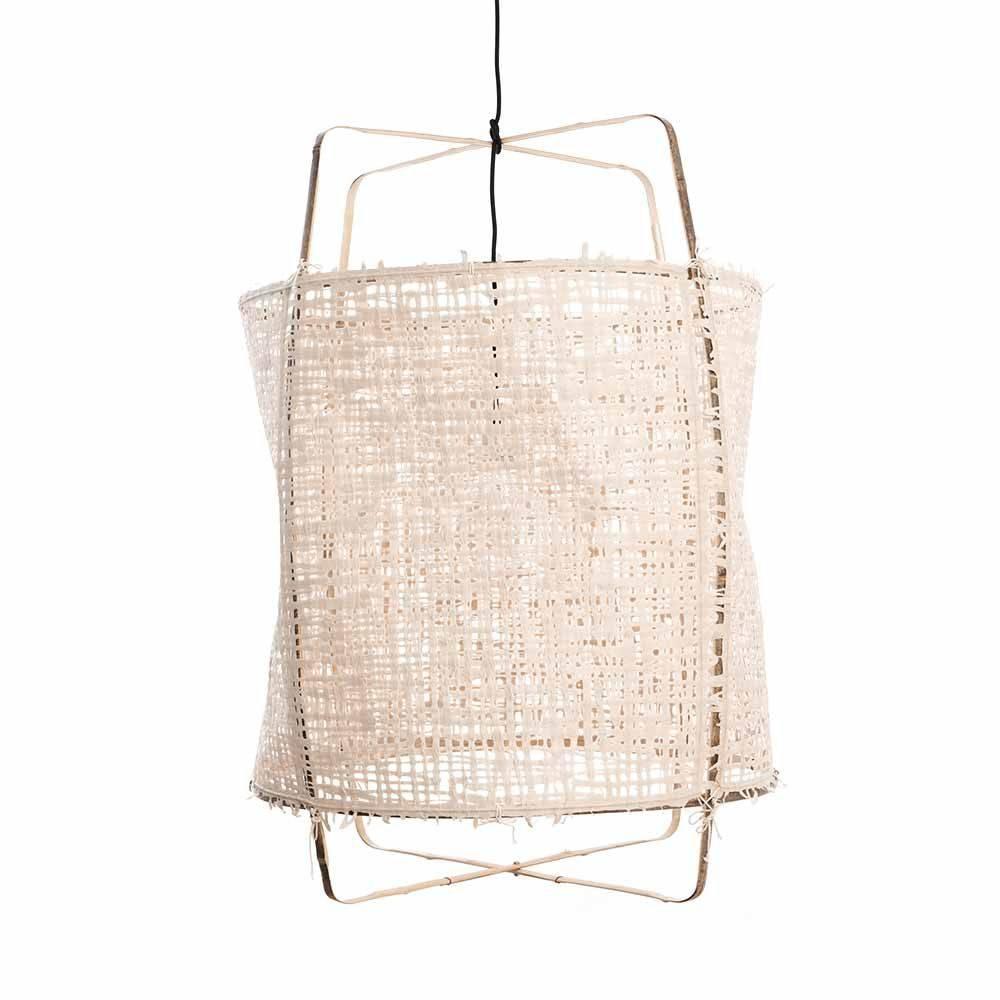 Ay Illuminate lámpara Z1 de bambú y papel natural - Ø 67cm x H100cm - Ay illuminate