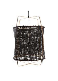 Ay Illuminate Suspension Z1 en bambou et papier noir - Ø 67cm x H100cm - Ay Illuminate