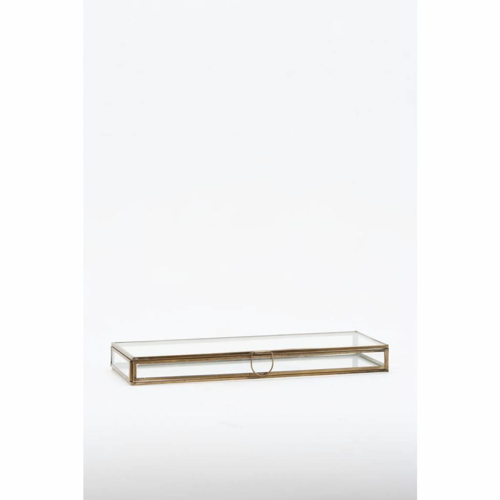 Monograph Boîte à bijoux en verre / laiton - 31x11x3cm - House Doctor