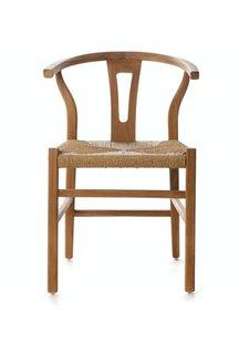 Dareels Dinning Chair ROB in teak et robe - Natural  - Dareels