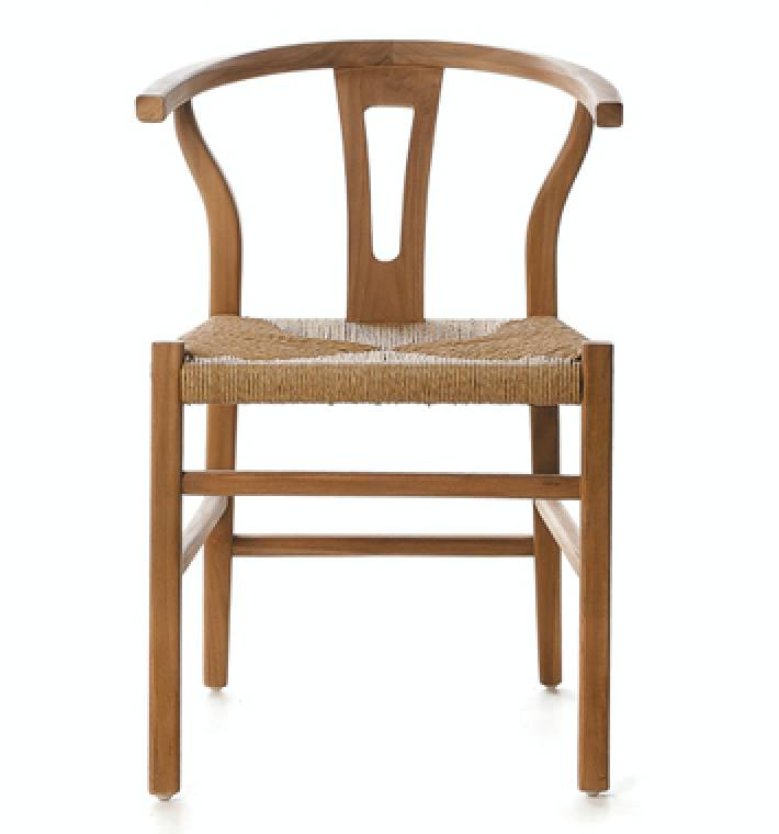 Dareels Dinning Chair ROB in wood et robe - Natural - Dareels