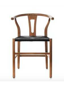 Dareels Dinning Chair ROB in teak et robe - Naturel / Black  - Dareels