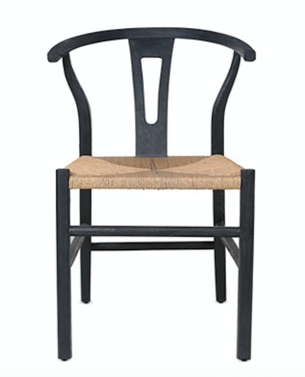 Dareels Chaise ROB en teck et corde - Noir / Naturel - Dareels
