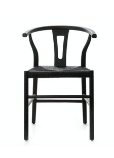 Dareels Dinning Chair ROB in teak et robe - Black  - Dareels