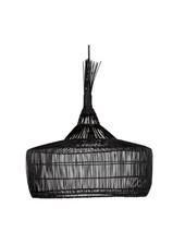 Dareels Suspension en rotin - noir - Ø57x50cm - Dareels