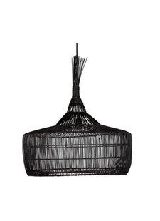 Dareels Rattan pendant lamp - black - Ø57x50cm - Dareels