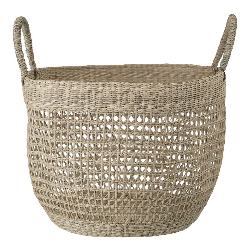 Bloomingville Seagrass basket - natural - Ø34xH24 - Bloomingville