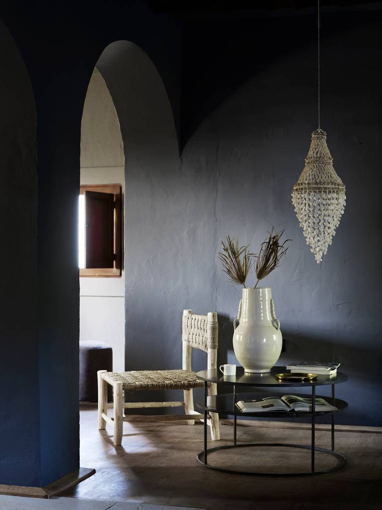 TineKHome Lámpara de techo en conchas - Ø30x60cm - blanco natural - Tinek Home