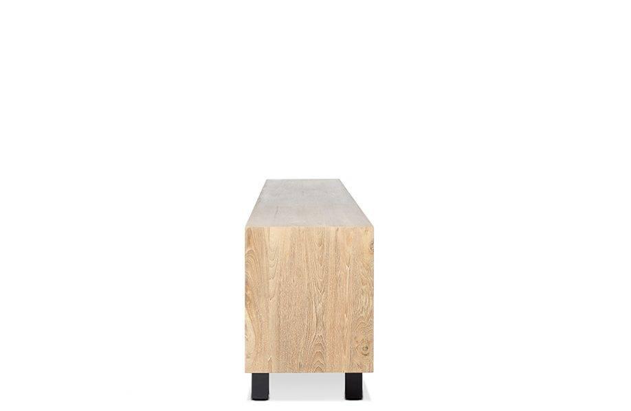Dareels Buffet LOX - teck naturel y métal noir - 257x45xh74cm - Dareels