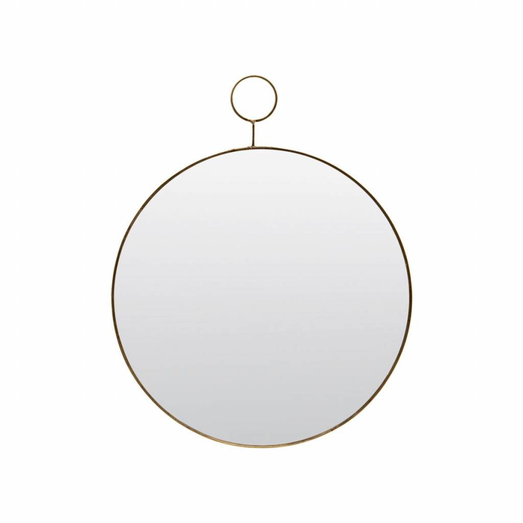 House Doctor Miroir 'the loop' rond - Laiton - 32cm - House Doctor